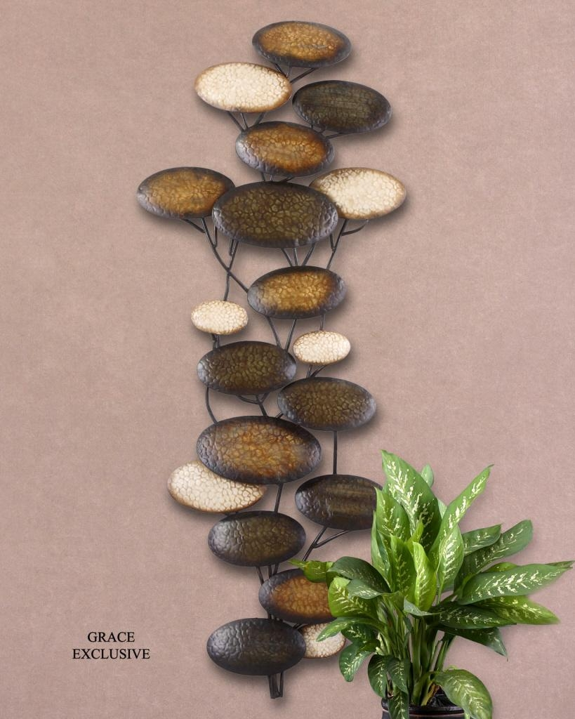Uttermost Amanita Metal Wall Art 13461 throughout Hammered Metal Wall Art
