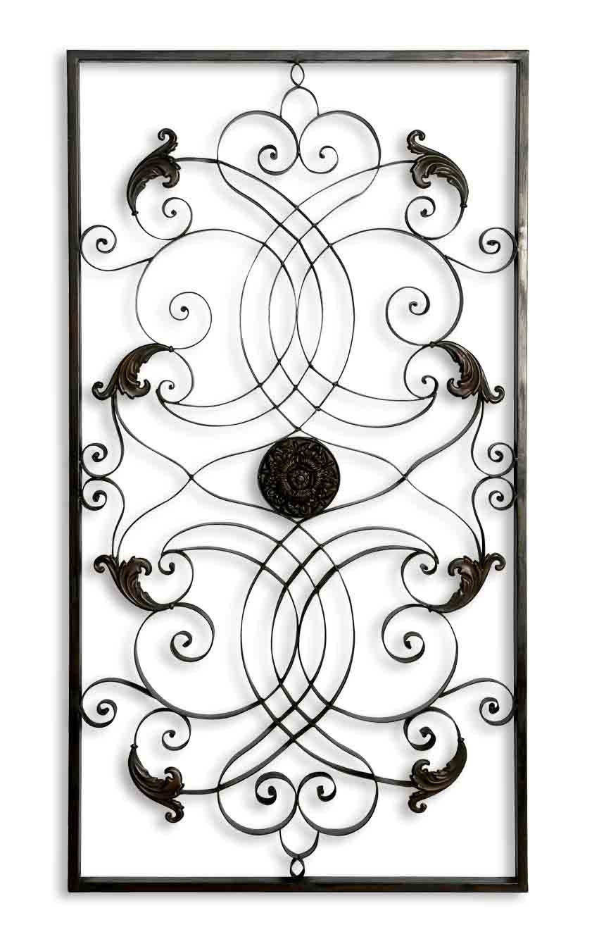 Uttermost Effie Rectangle Metal Wall Art 07527 inside Uttermost Metal Wall Art