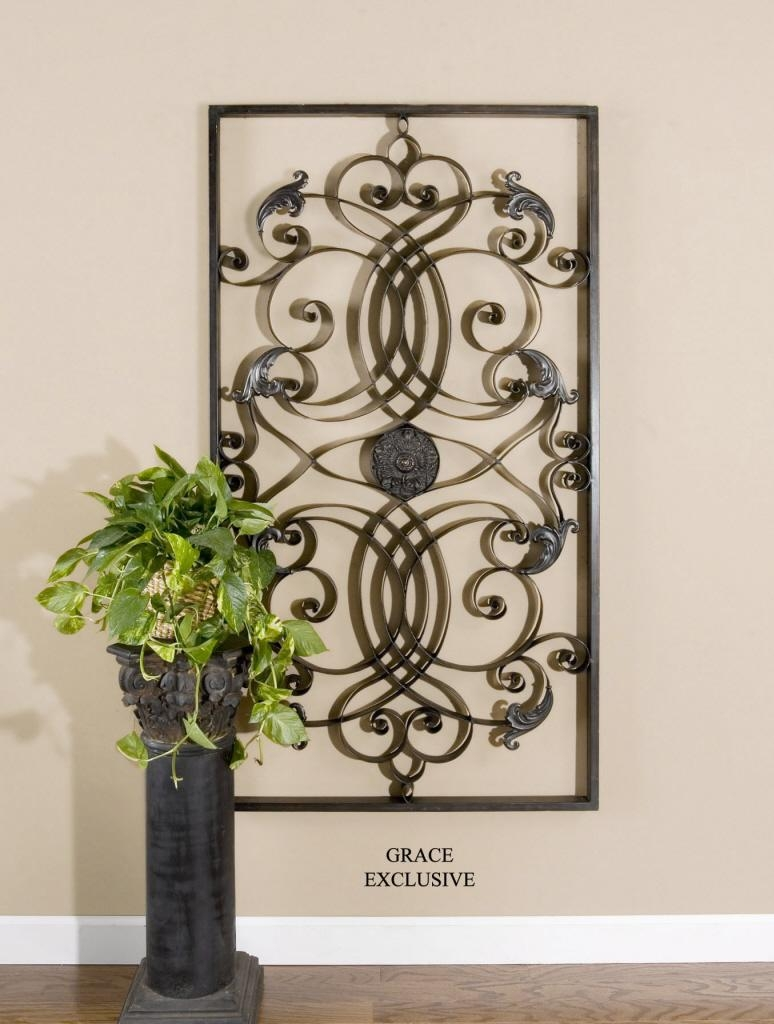 Uttermost Effie Rectangle Metal Wall Art 07527 regarding Rectangular Metal Wall Art