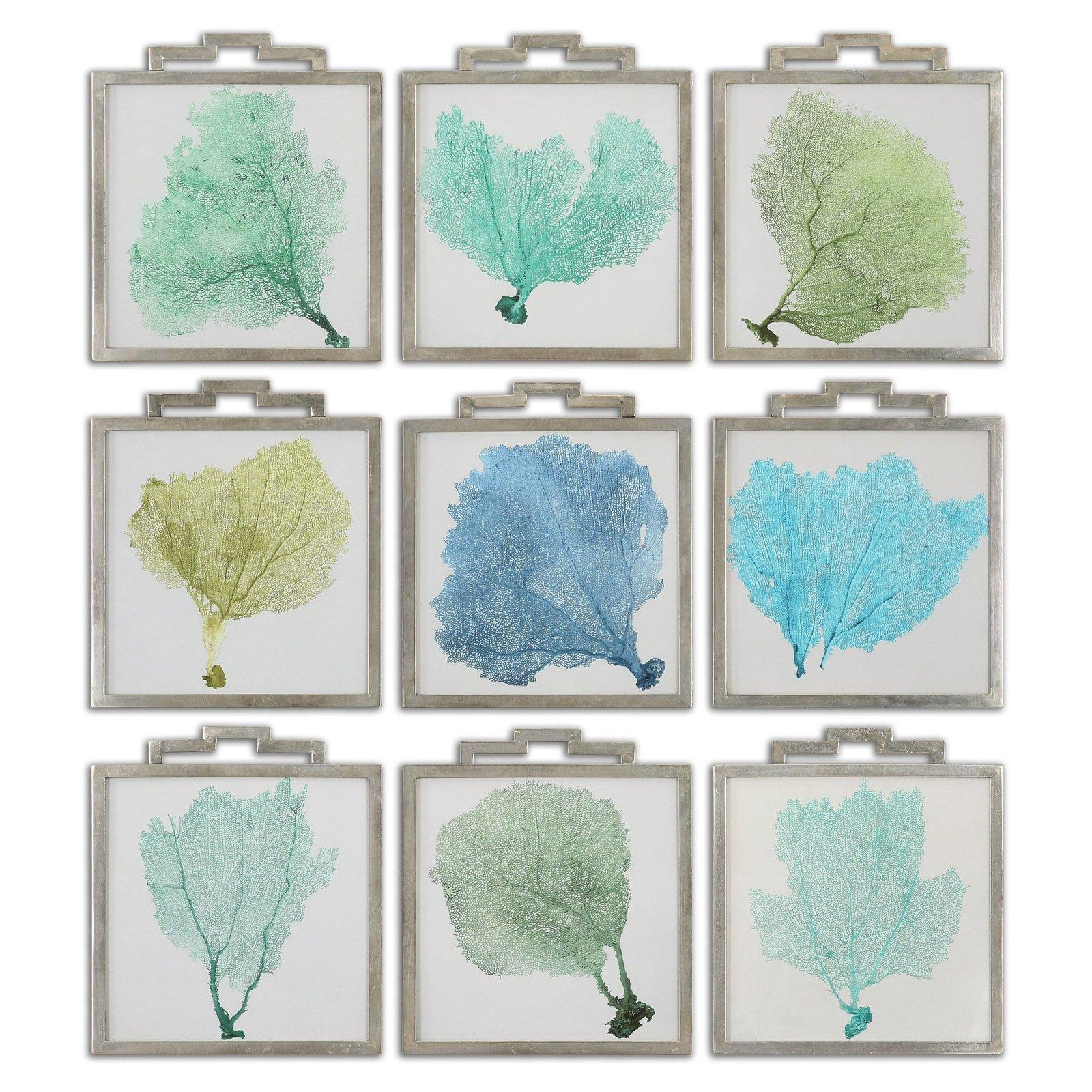 Uttermost Sea Fans Framed Art - Set Of 9 - 17W X 19H In. Ea intended for Sea Fan Wall Art