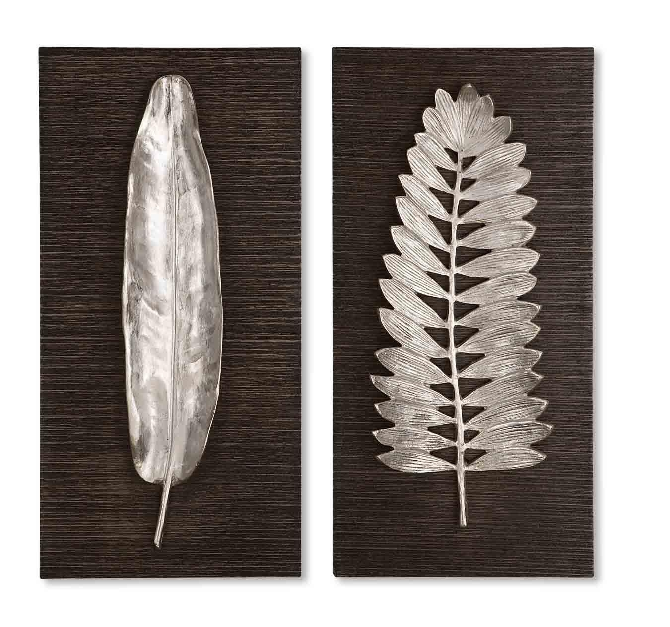 Uttermost Silver Leaves Wall Art 04001 throughout Uttermost Metal Wall Art
