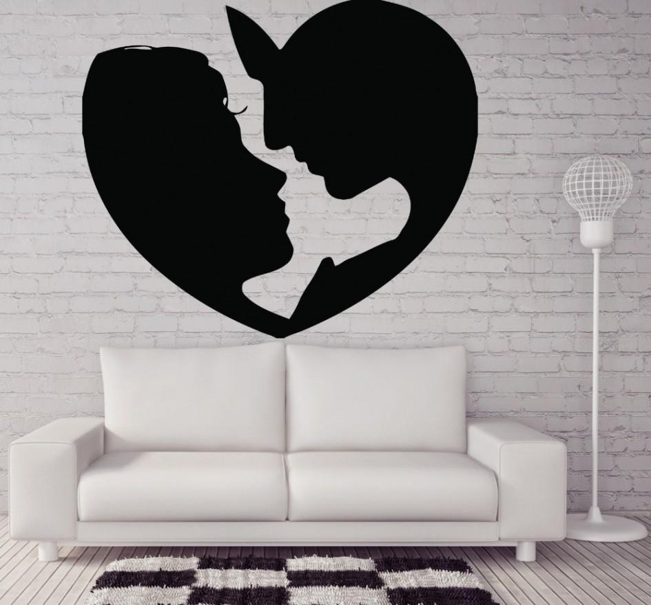 Valentine Days. Cool Home Wall Decals For Valentine Decors: Black pertaining to Black and White Damask Wall Art