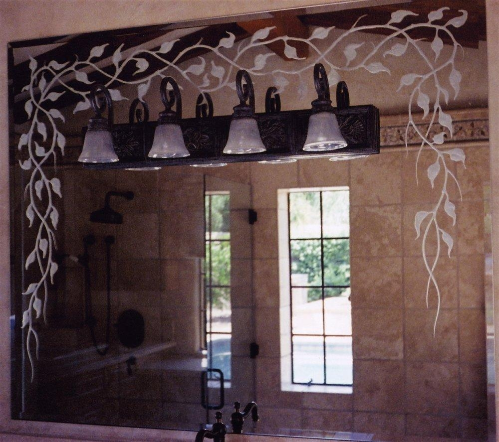 Vanity Mirrors - Sans Soucie Art Glass pertaining to Mirrored Frame Wall Art