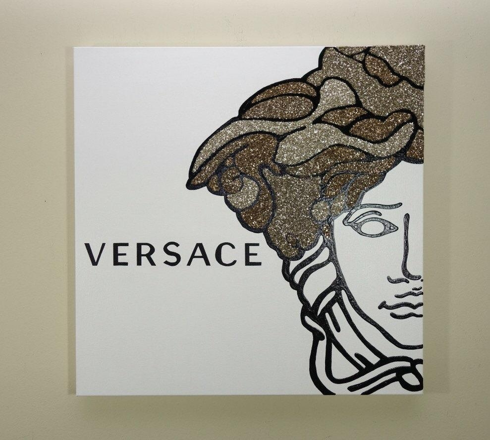 Versace Medusa Painting 24X24 Versace Inspired Pop Art Inside Versace Wall Art (Image 13 of 20)