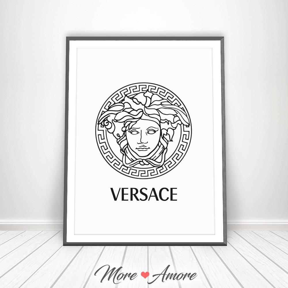 Versace Print Gianni Versace Logo Medusa Head Affiche With Regard To Versace Wall Art (Image 18 of 20)