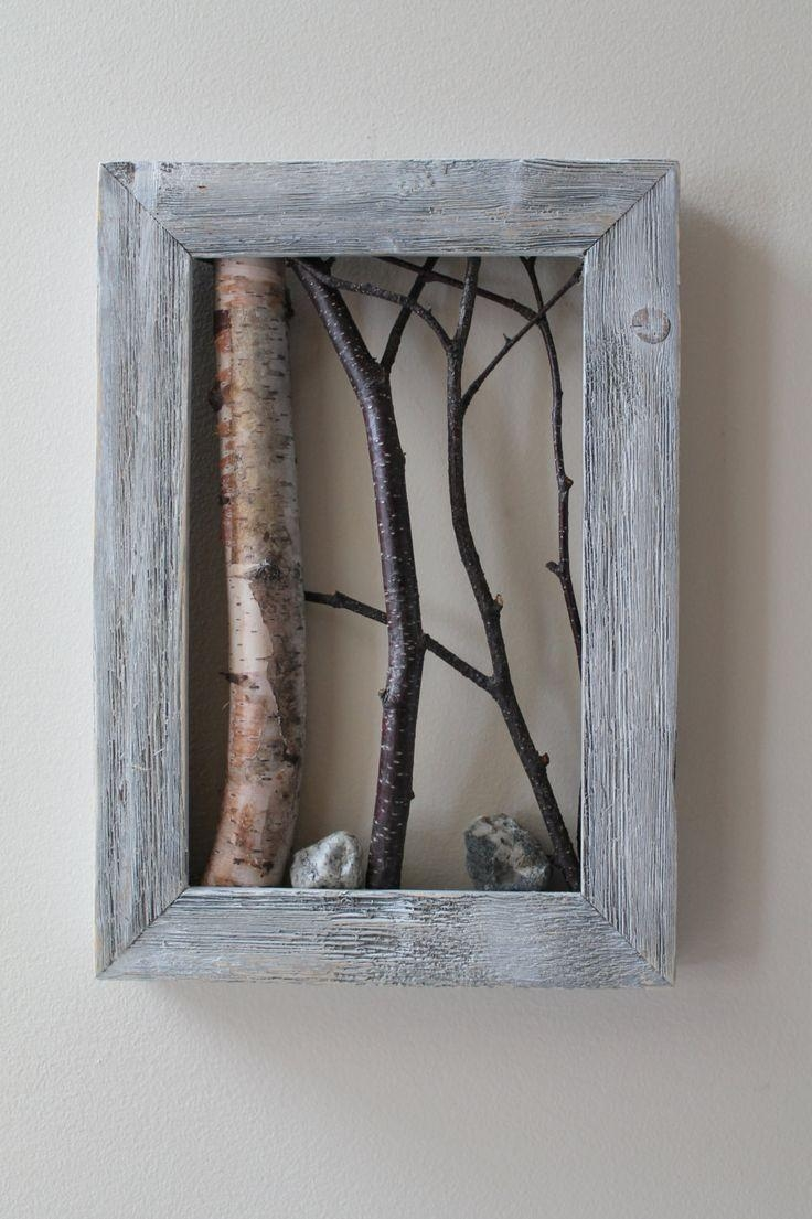 Very Cool, Love It! Real Birch Tree Branches In A Frame. Jay Is in Aspen Tree Wall Art