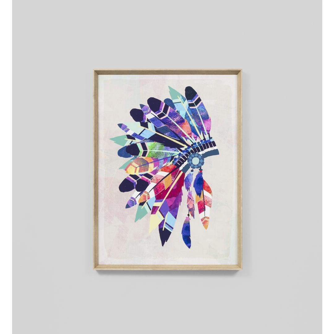 Vibrant Headdress Wall Art Print | Interior Secrets Inside Vibrant Wall Art (View 11 of 20)