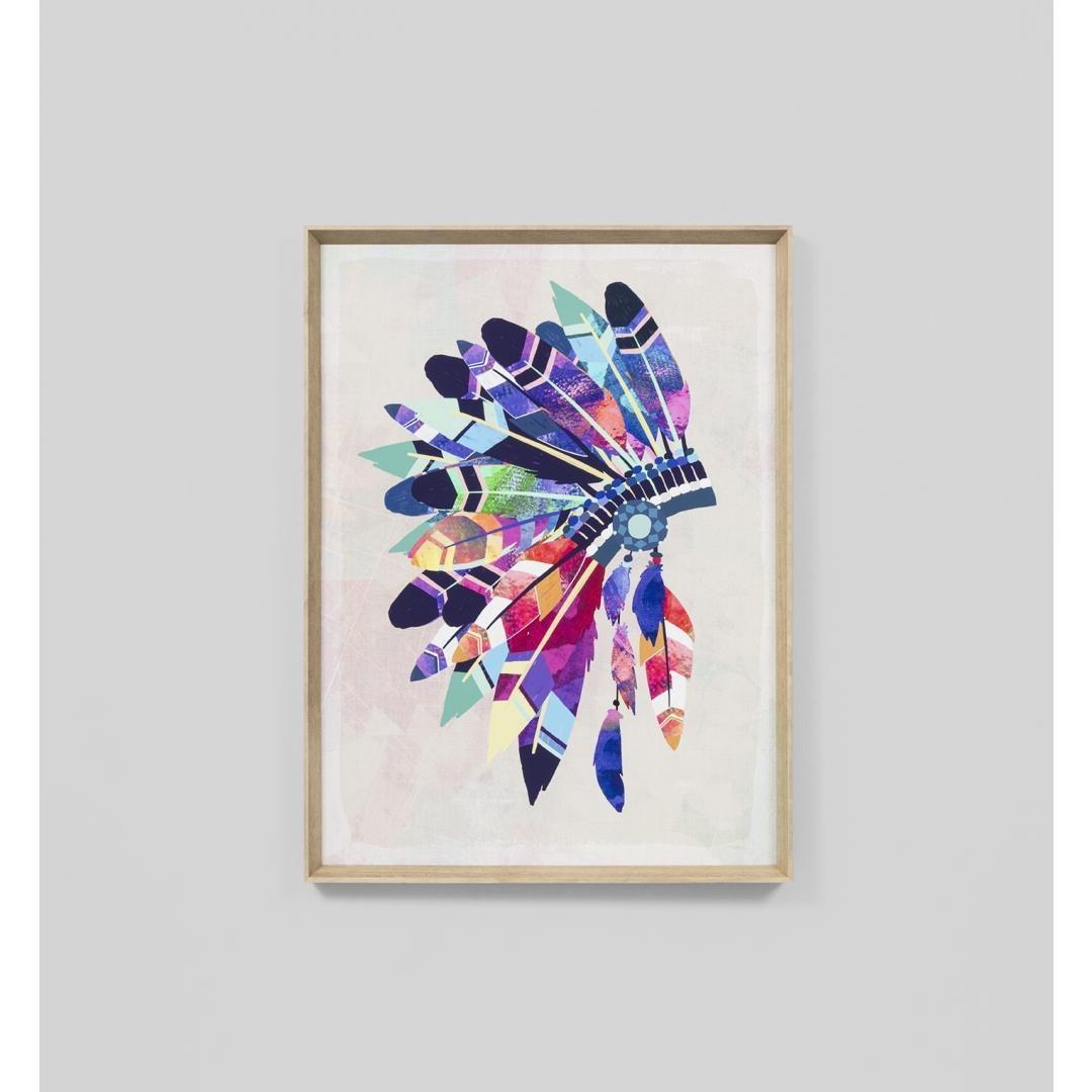 Vibrant Headdress Wall Art Print   Interior Secrets Inside Vibrant Wall Art (Image 19 of 20)