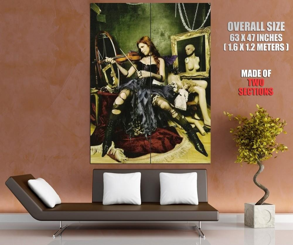 Victoria Frances Girl Violin Stockings Broken Mannequin Art Wall with regard to Mannequin Wall Art