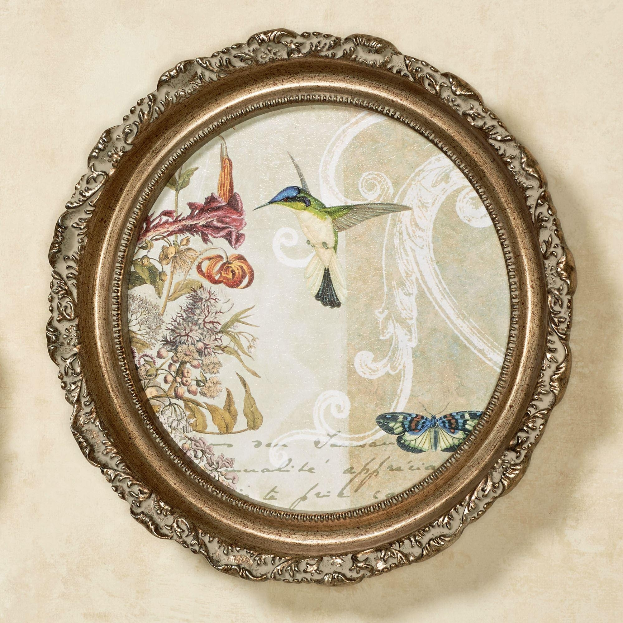 Victorian Collage Round Framed Wall Art Inside Cameo Wall Art (View 11 of 20)