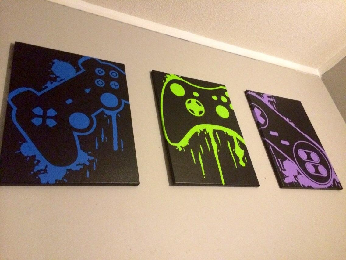 Video Game Controller Art with Video Game Wall Art