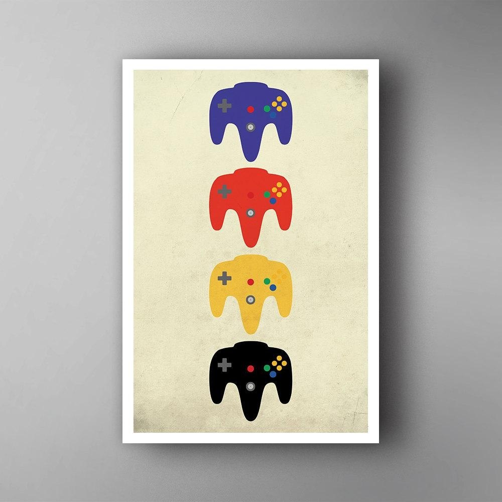 Video Game Wall Art Perfect Canvas Wall Art For Cheap Wall Art in Video Game Wall Art