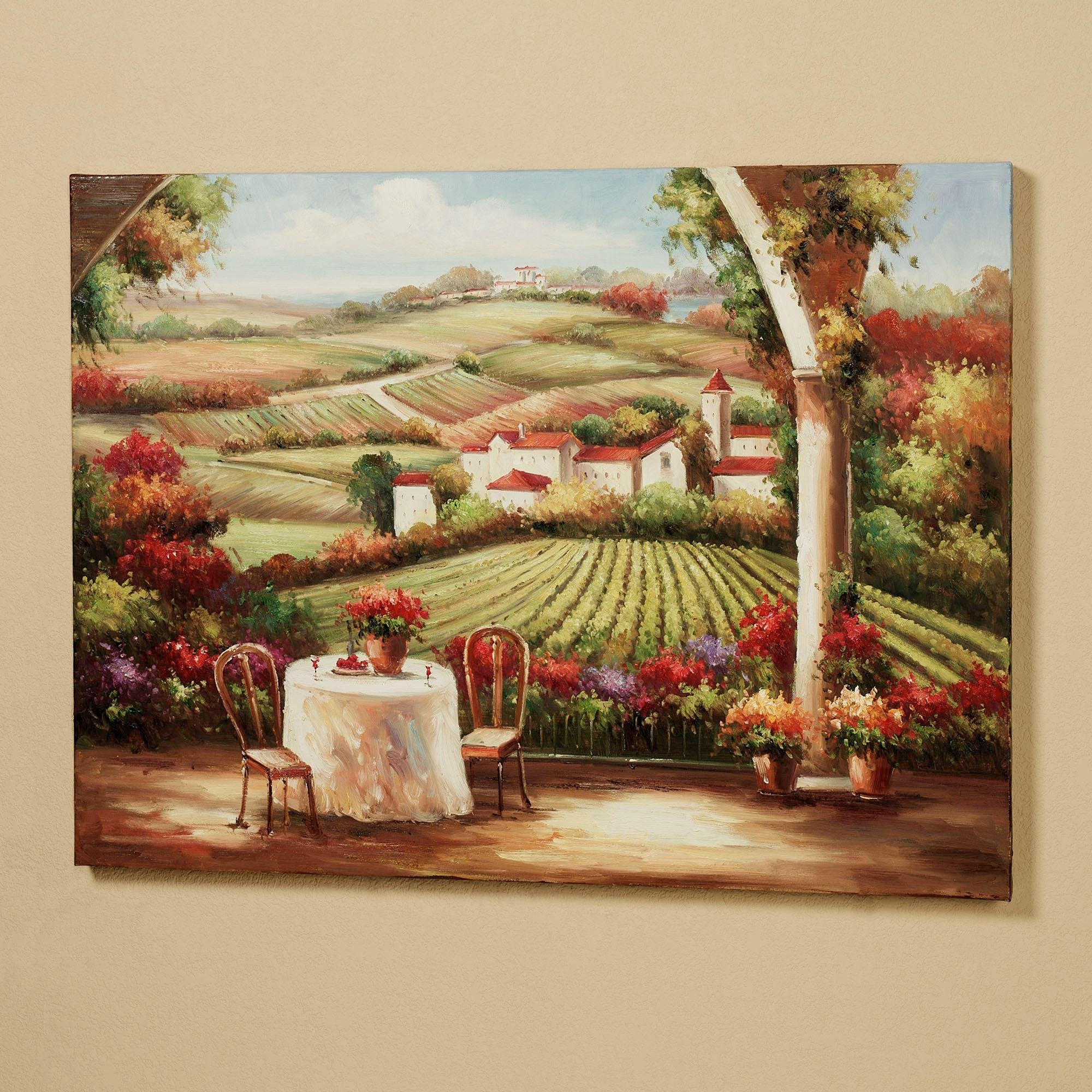 Vineyard In The Valley Canvas Wall Art Intended For Tuscany Wall Art (Image 17 of 20)