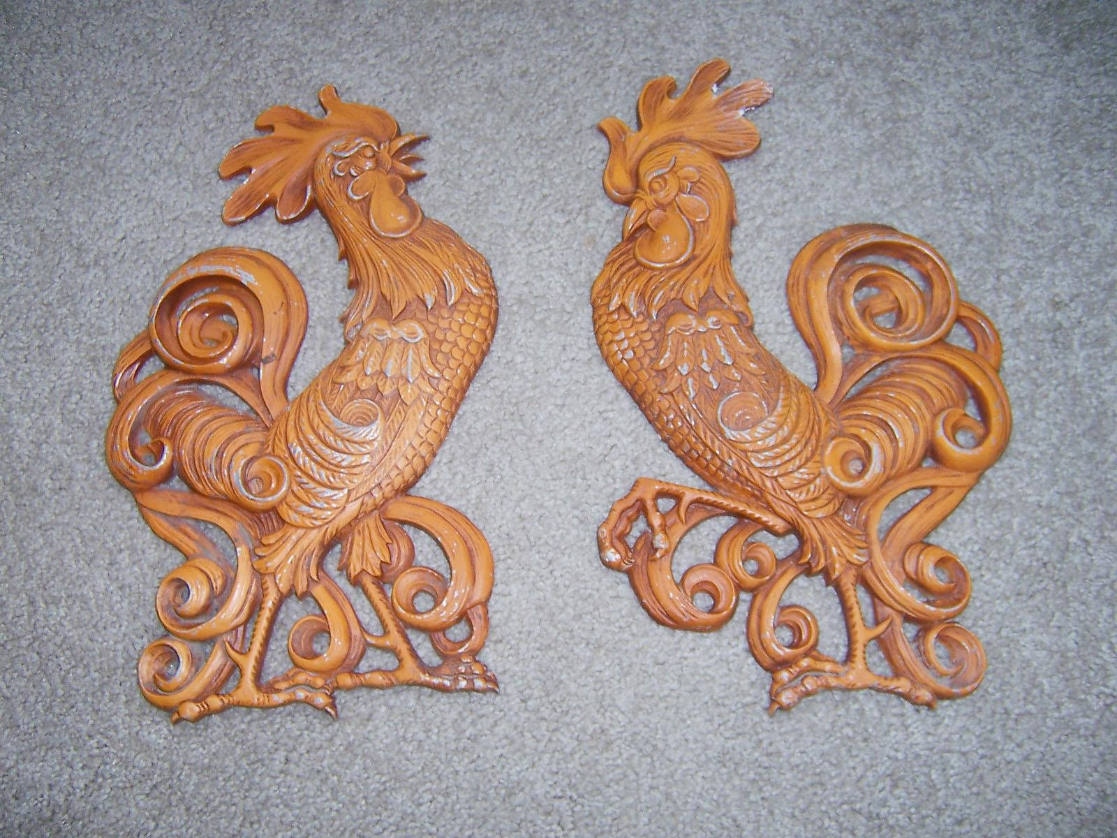 Vintage Goodness 1.0: Featured Collectible - Vintage Sexton Wall Decor within Metal Rooster Wall Decor