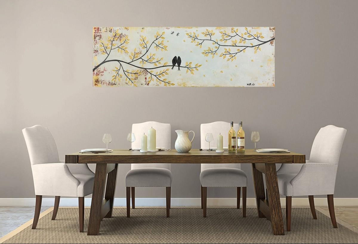 "Vintage Loveqiqigallery 36"" X 12"" Original Modern Abstract Pertaining To Shabby Chic Canvas Wall Art (Image 17 of 20)"