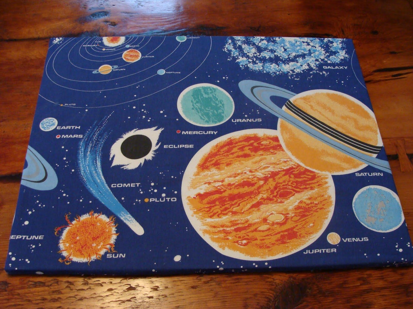 Vintage Pollyanna: Custom Solar System Wall Art From Upcycled 80S in Solar System Wall Art