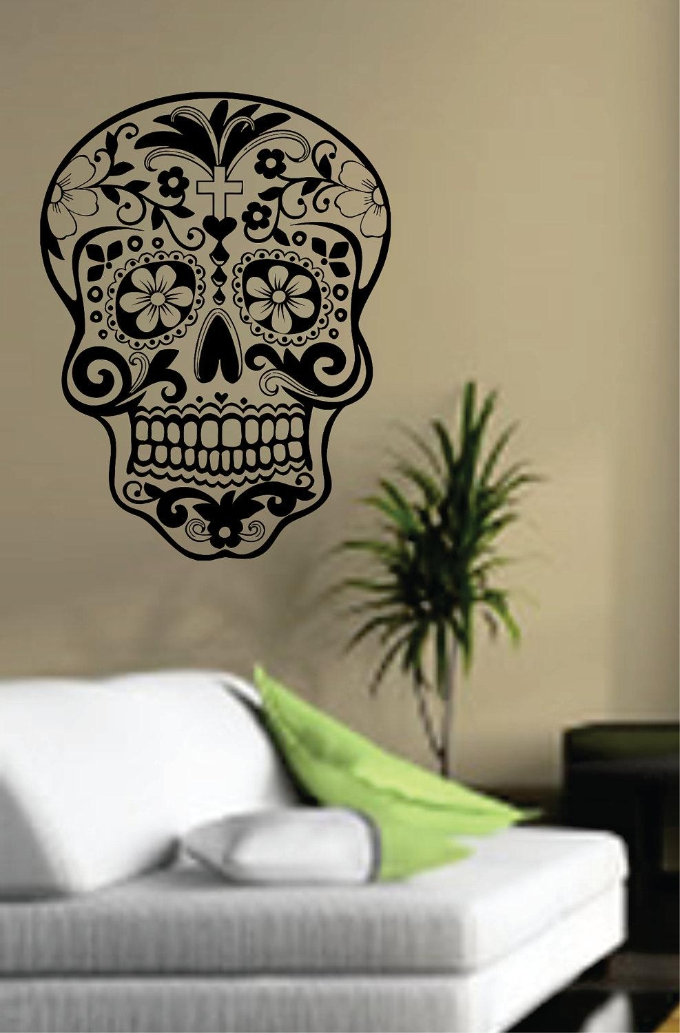 Vinyl Sticker Wall Art | Wallartideas With Regard To Tim Burton Wall Decals (View 15 of 20)