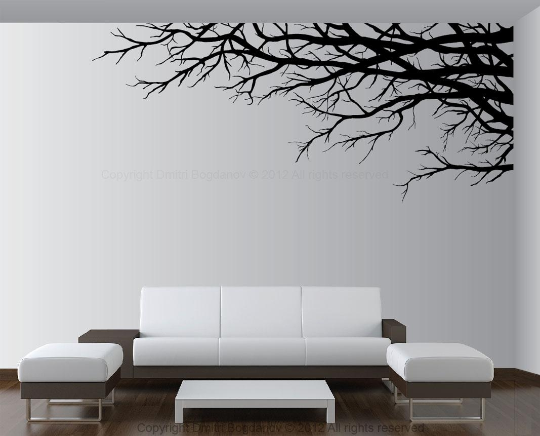 Vinyl Tree Wall Art Decals | Wallartideas Throughout Vinyl Wall Art Tree (Image 11 of 20)