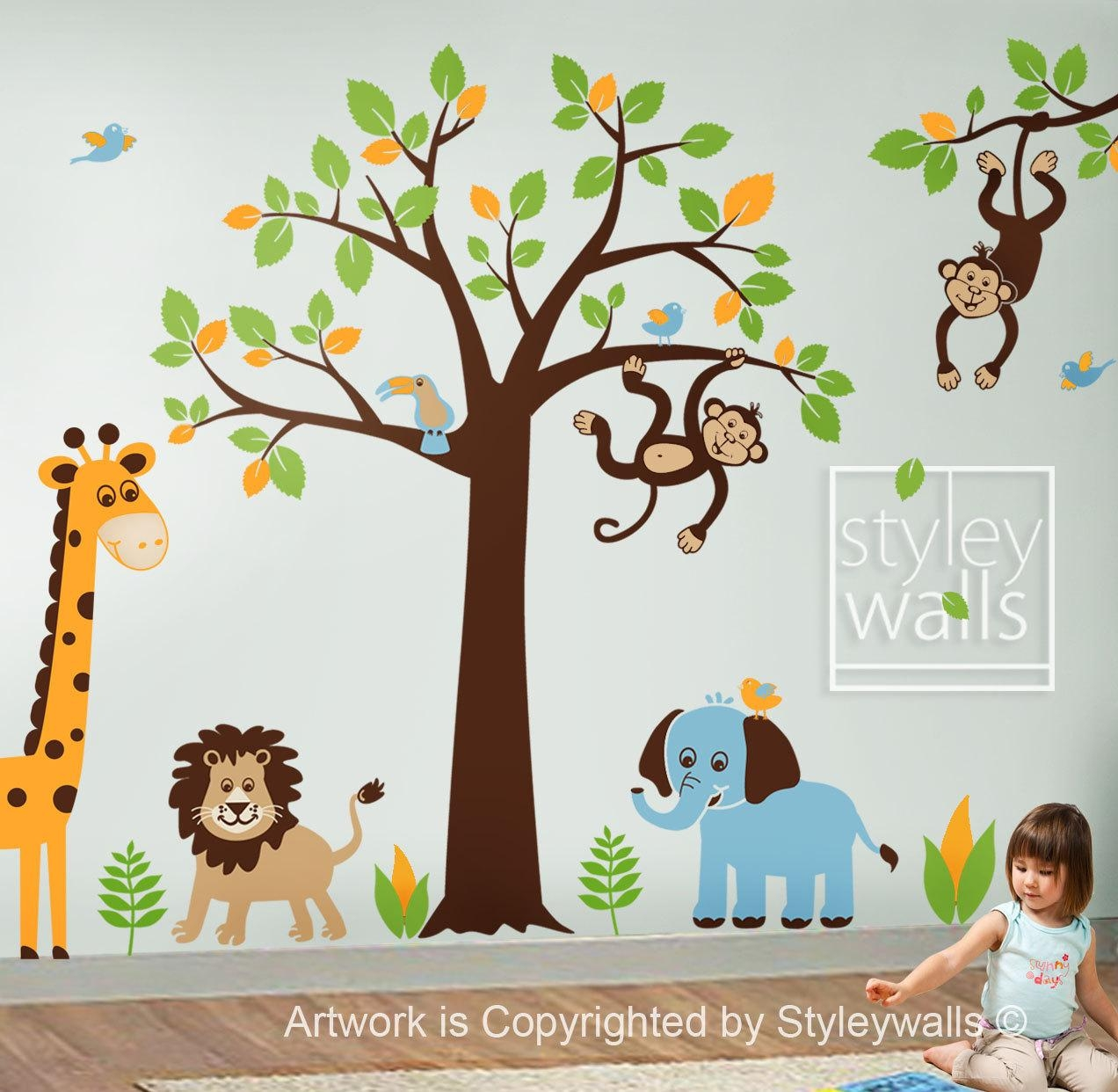 Vinyl Wall Art For Kids Within Wall Art Stickers For Childrens Rooms (View 11 of 20)