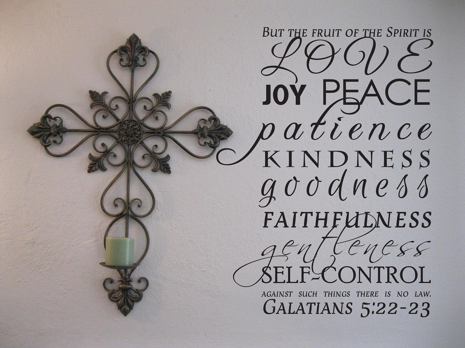 Vinyl Wall Art The Fruit Of The Spirit for Fruit of the Spirit Wall Art