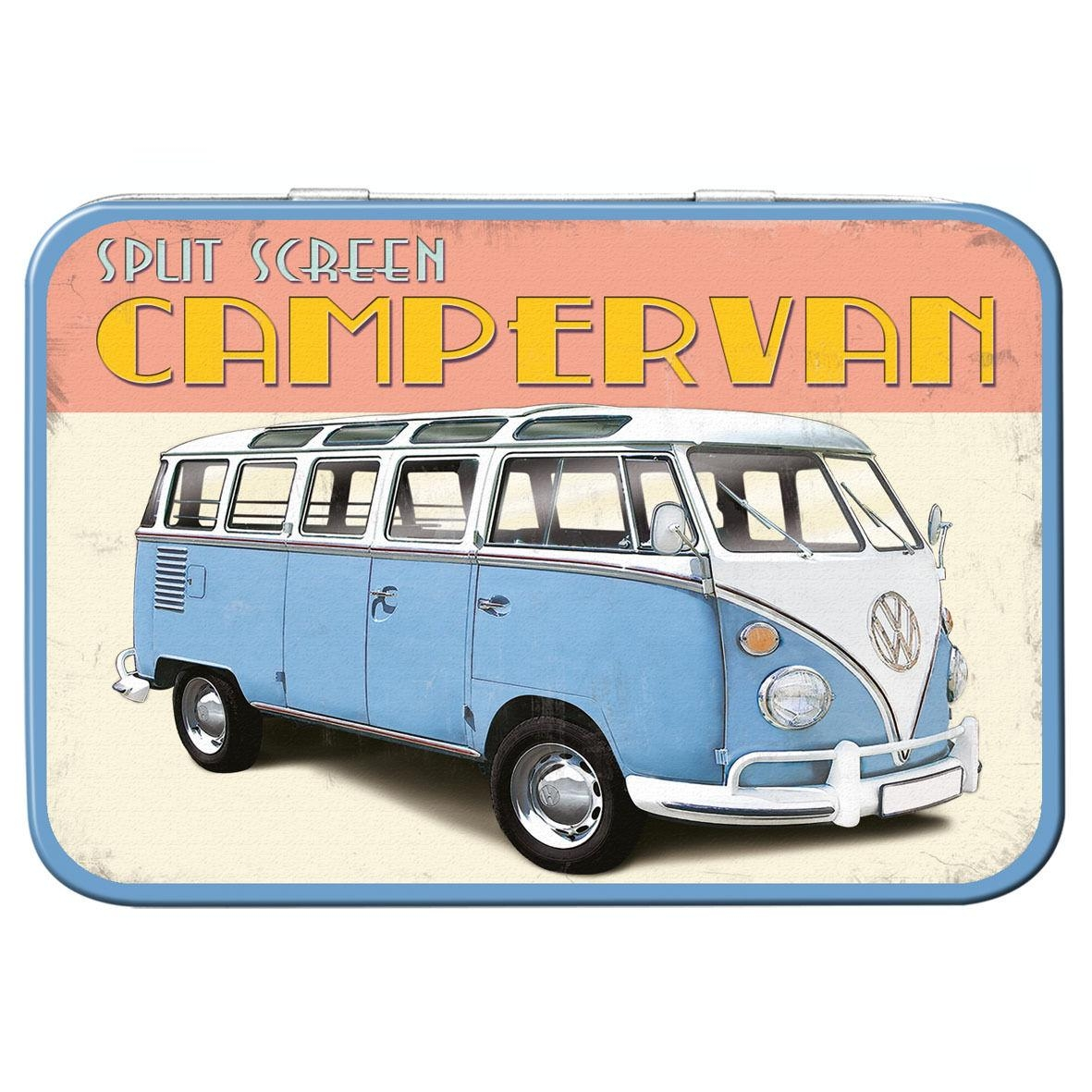 Volkswagen Camper Metal Keepsake Tin Men Gift Storage Official regarding Campervan Metal Wall Art