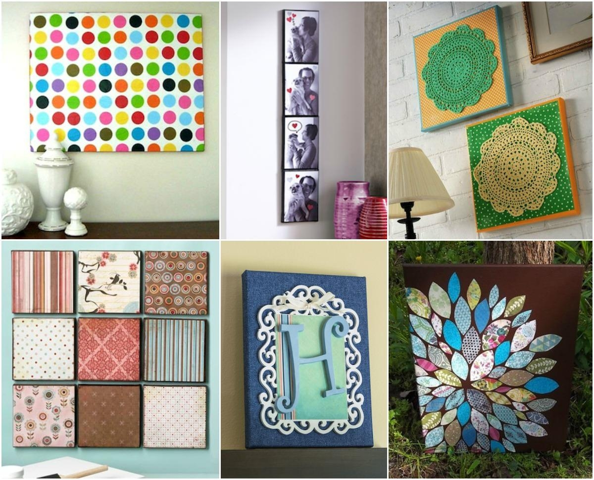 Wall Art – 20 Ways To Mod Podge Canvas – Mod Podge Rocks Pertaining To Decoupage Wall Art (Image 19 of 20)