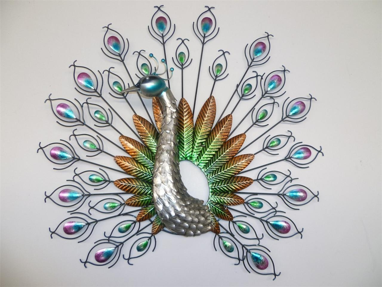 Wall Art 3D Metal Decor | Wallartideas For Metal Peacock Wall Art (View 8 of 20)