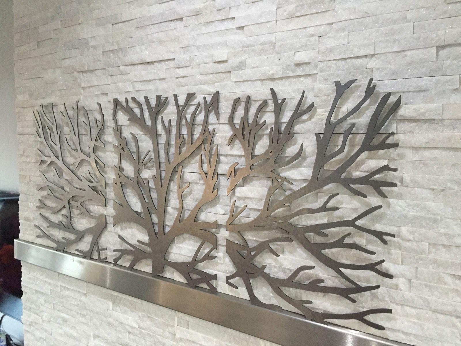 Wall Art 3D Metal Decor | Wallartideas Throughout 3D Metal Wall Art (Image 15 of 20)