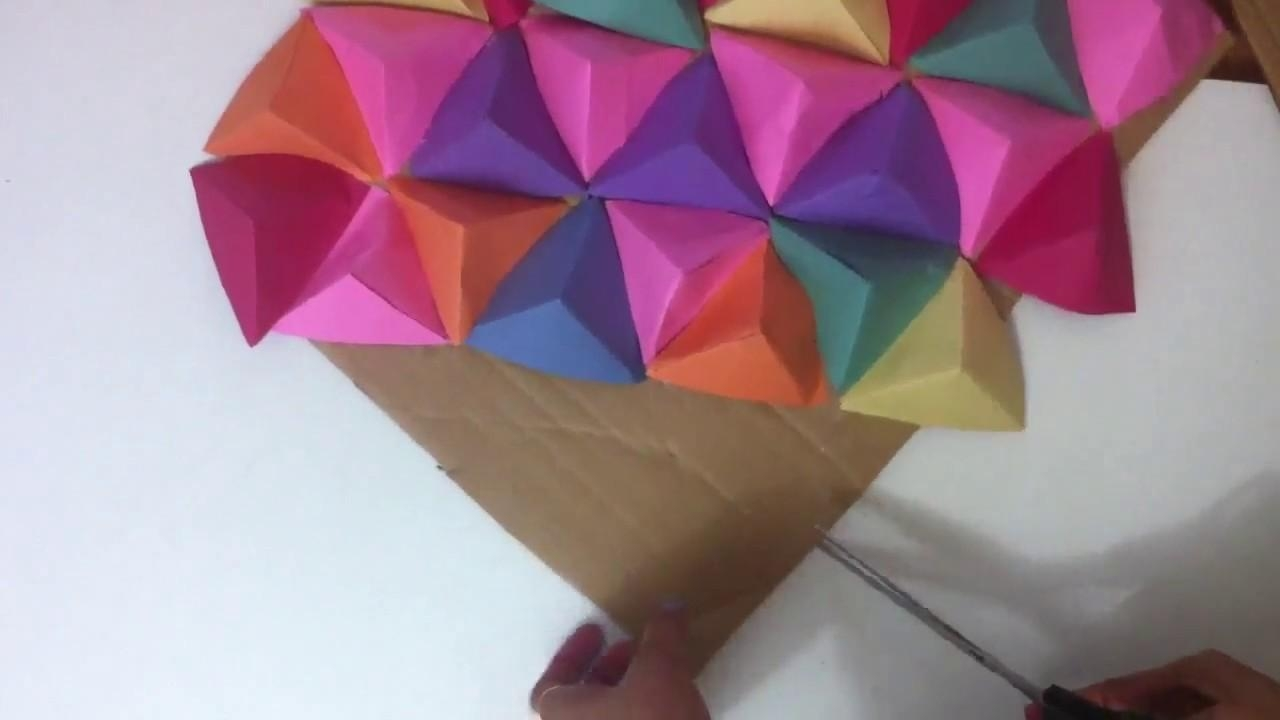 Wall Art 3D/paper Triangle Wall Art (Image 19 of 20)