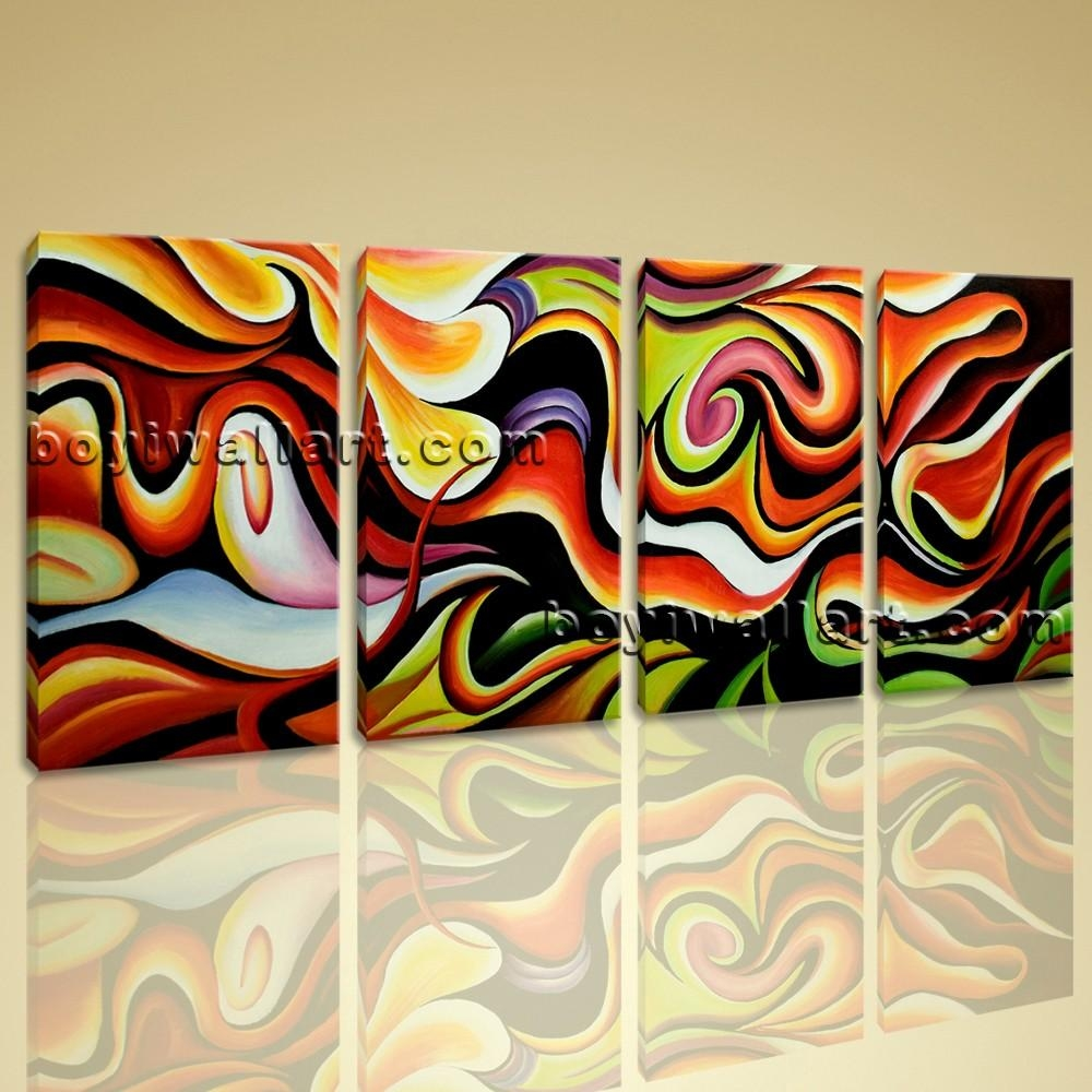Wall Art Abstract Painting Home Decoration Ideas Canvas Print Modern In Huge Wall Art Canvas (View 7 of 20)