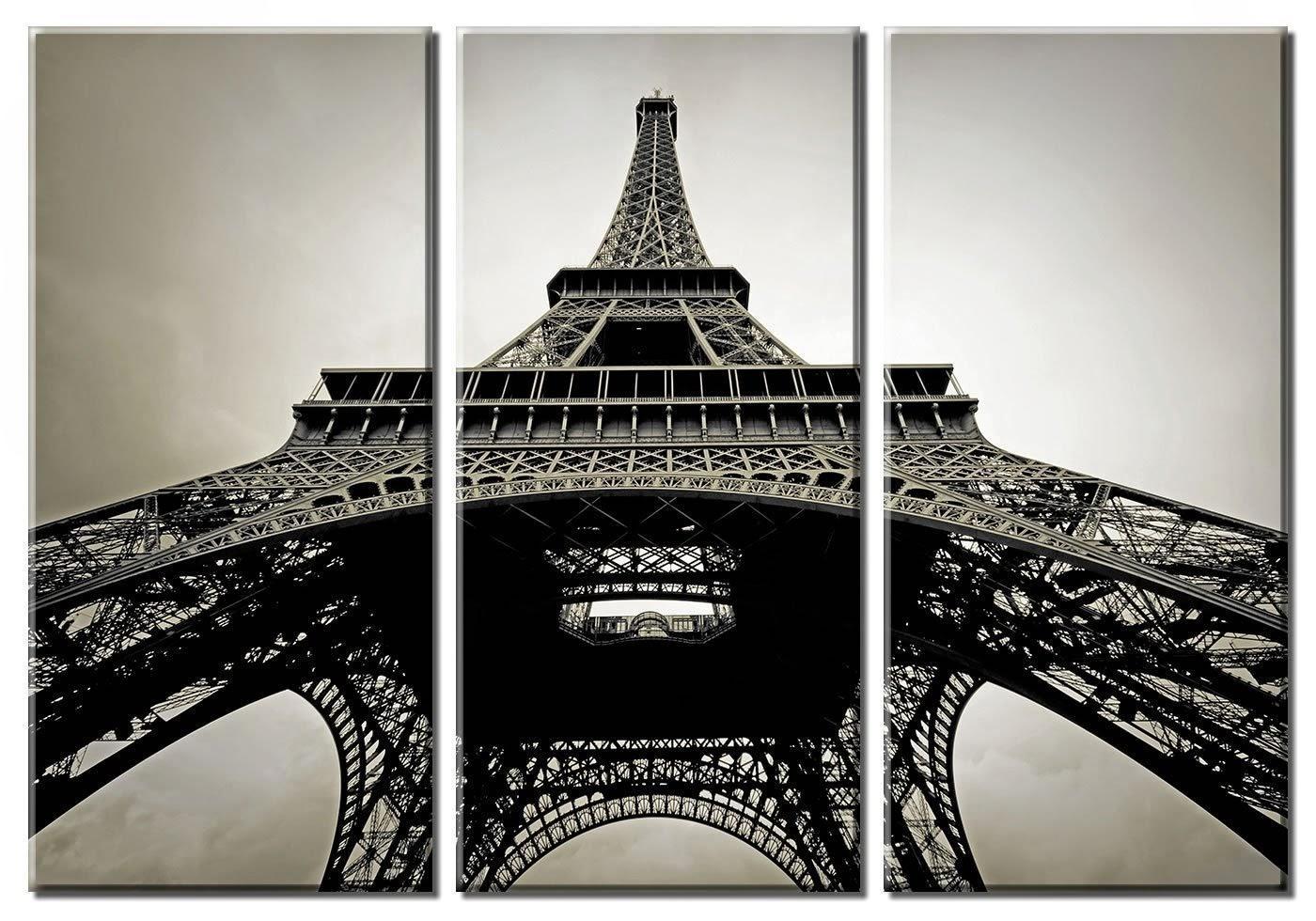 Wall Art: Amusing Paris Canvas Wall Art Eiffel Tower Canvas Art Regarding Metal Eiffel Tower Wall Art (View 5 of 20)