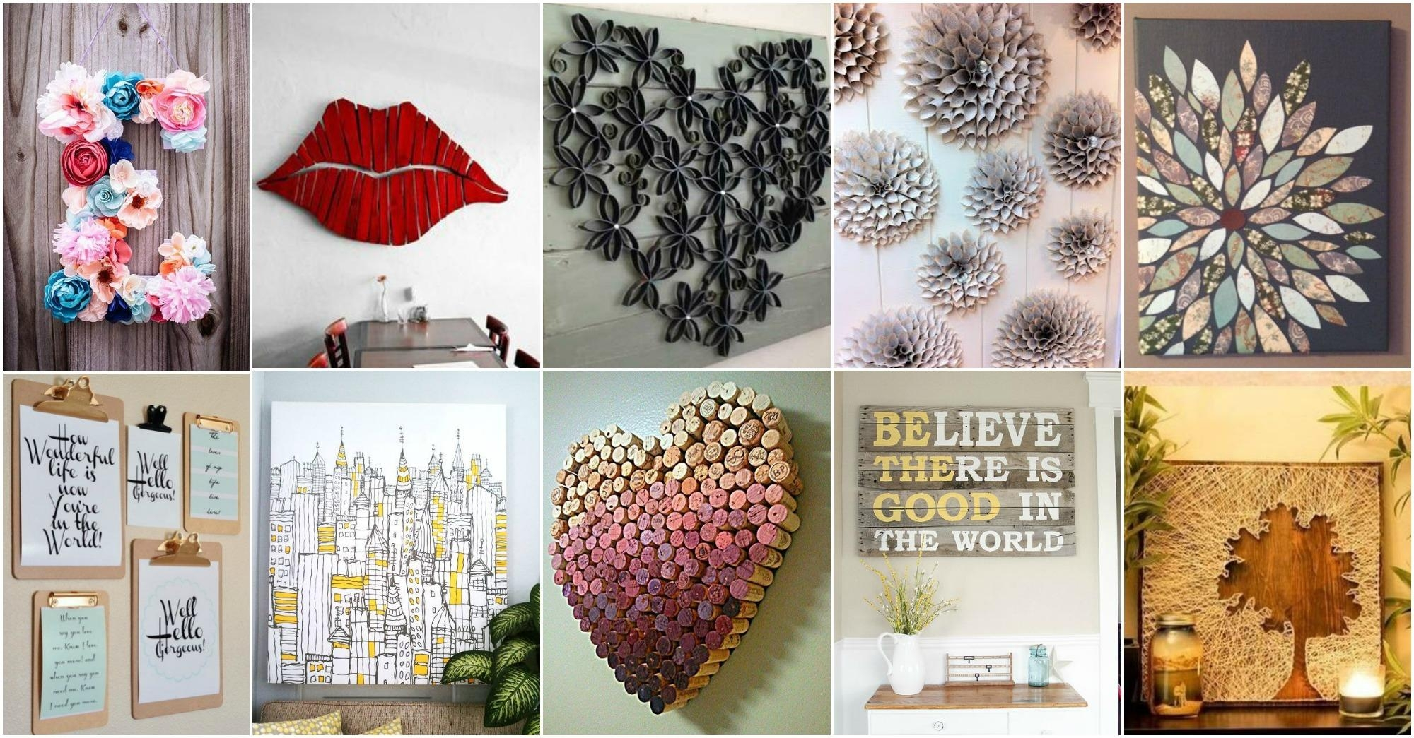 Wall Art: Awesome Canvas Wall Art Ideas Diy Canvas Art Ideas, Cool Pertaining To Pinterest Diy Wall Art (View 12 of 20)