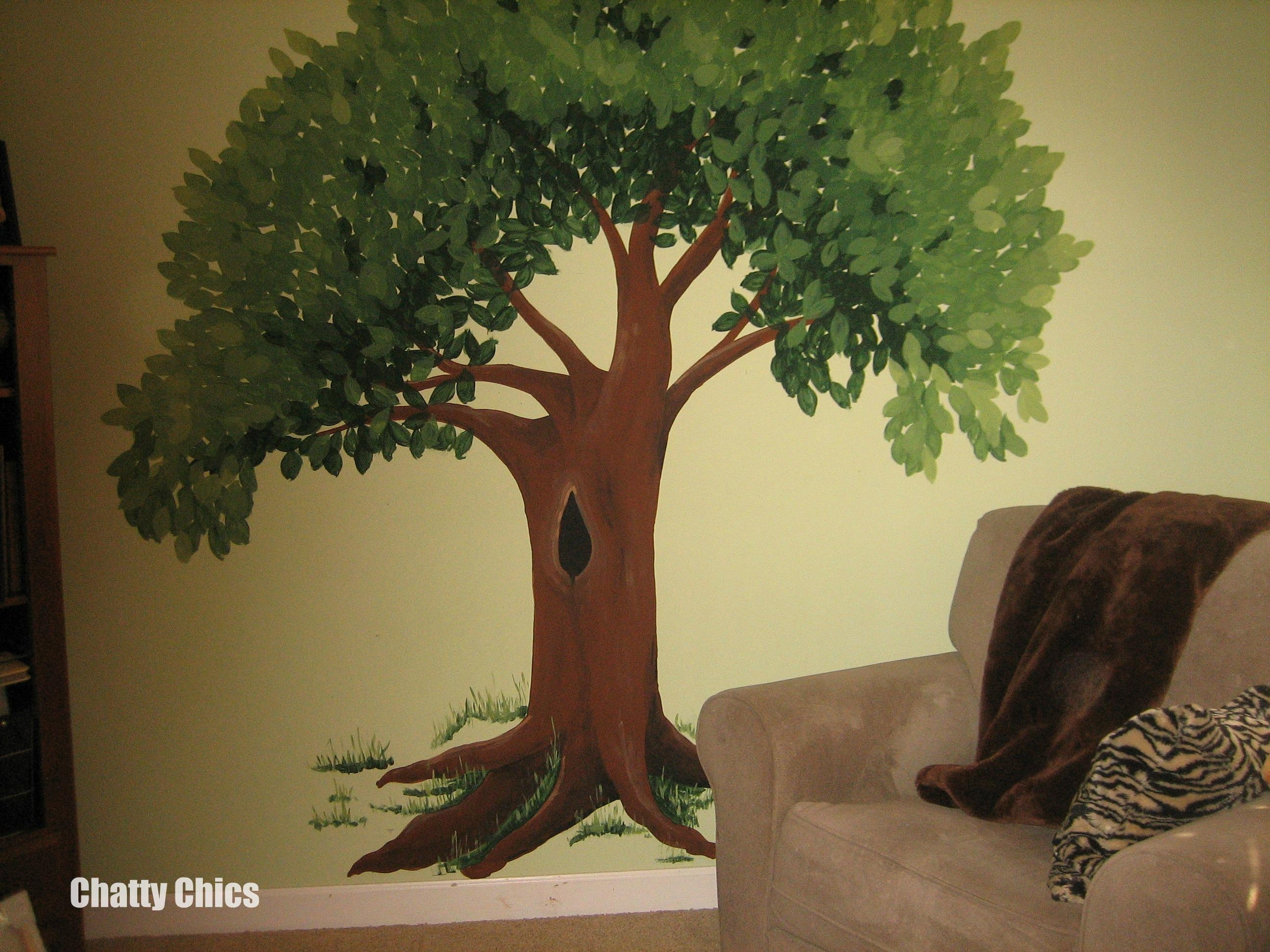 Wall Art | Chatty Chics Inside Painted Trees Wall Art (Image 18 of 20)