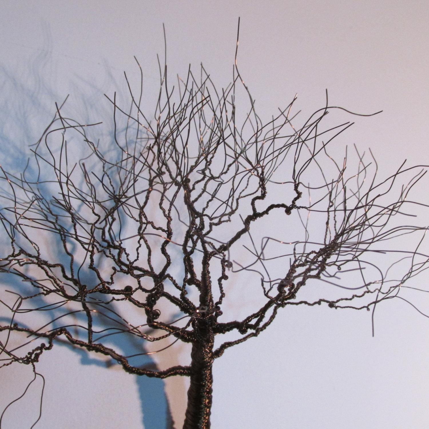 Wall Art Decor Ideas: Bronze Decorations Metal Wall Art Tree Brown Within Metal Wall Art Trees And Branches (Image 17 of 20)