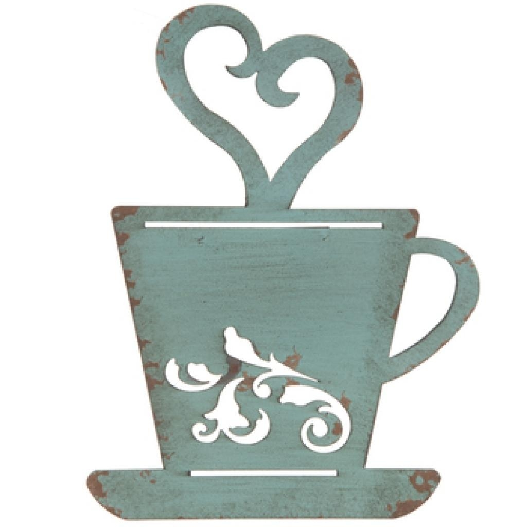 Wall Art Decor Ideas Combination Coffee Cup Wall Art Java Latte Throughout Metal Coffee Cup Wall Art (Image 20 of 20)