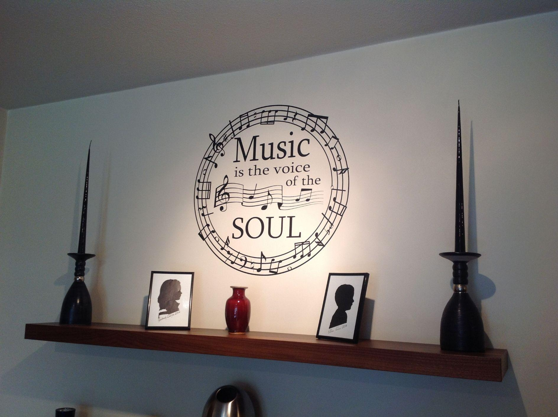 Wall Art Decor: Magnificent Creative Wall Art Music Notes Throughout Music Note Wall Art (Image 17 of 20)