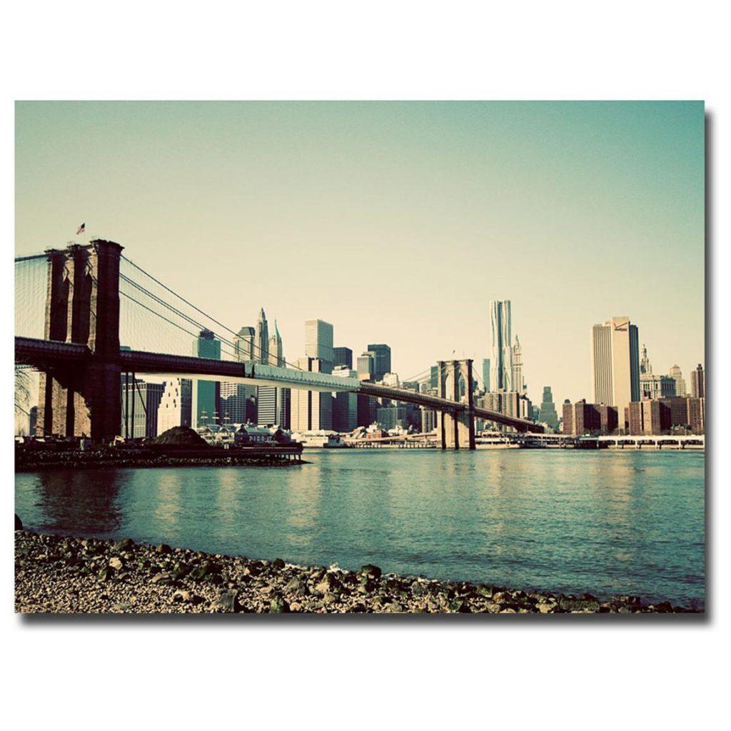 Wall Art Decor: Top Designing Brooklyn Bridge Wall Art Great For Brooklyn Bridge Wall Decals (Image 17 of 20)