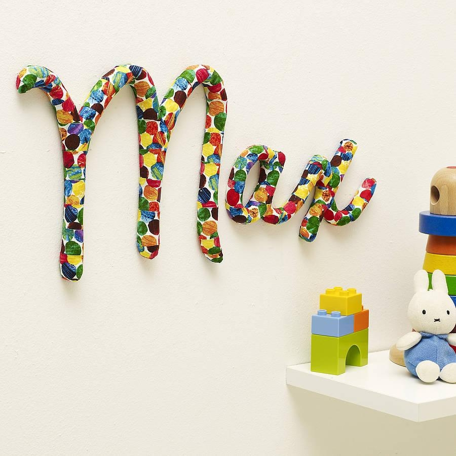 Wall Art Design Ideas: Colorful Design Name Wall Art For Nursery In Personalized Nursery Wall Art (Image 11 of 20)