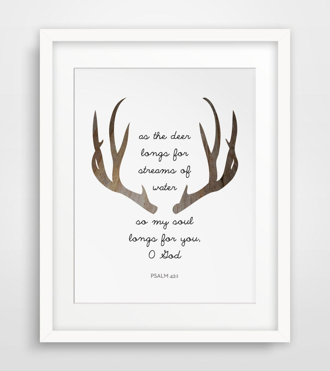 Wall Art Design Ideas: Deer Horn Christian Wall Art Canvas In Christian Canvas Wall Art (View 4 of 20)