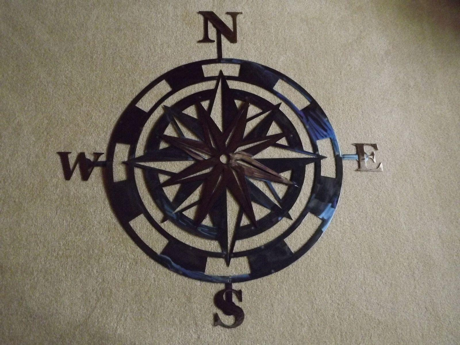 Wall Art Design Ideas: Handmade Rose Compass Wall Art Metal Intended For Stainless Steel Outdoor Wall Art (View 20 of 20)