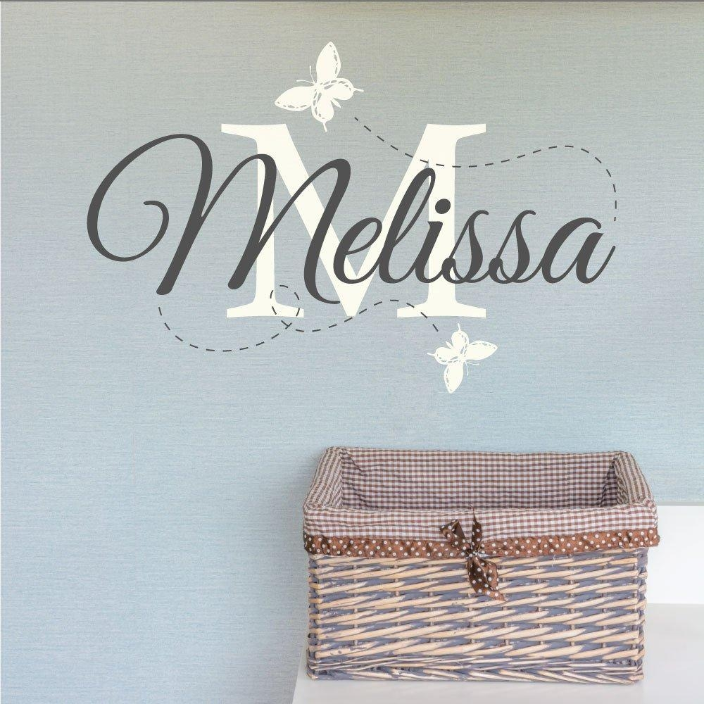 Wall Art Design Ideas: Melisa Childrens Name Wall Art For Nursery Throughout Personalized Baby Wall Art (View 10 of 20)