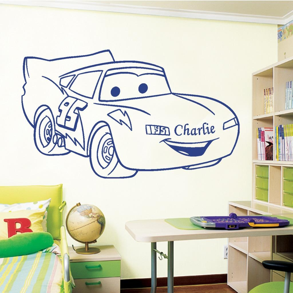 Wall Art Design Ideas: Obsured Varying Lightning Mcqueen Wall Art With Lightning Mcqueen Wall Art (Photo 1 of 20)
