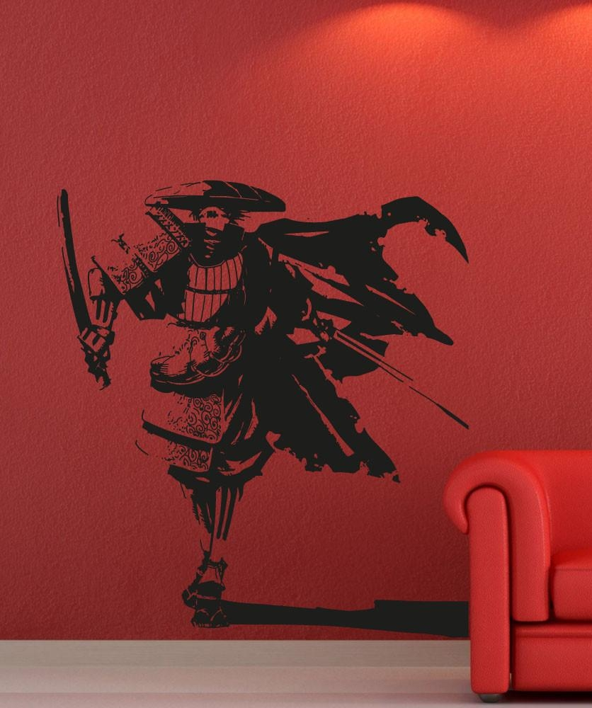 Wall Art Design Ideas: Oriental World War Samurai Wall Art Dining With  Samurai Wall Art