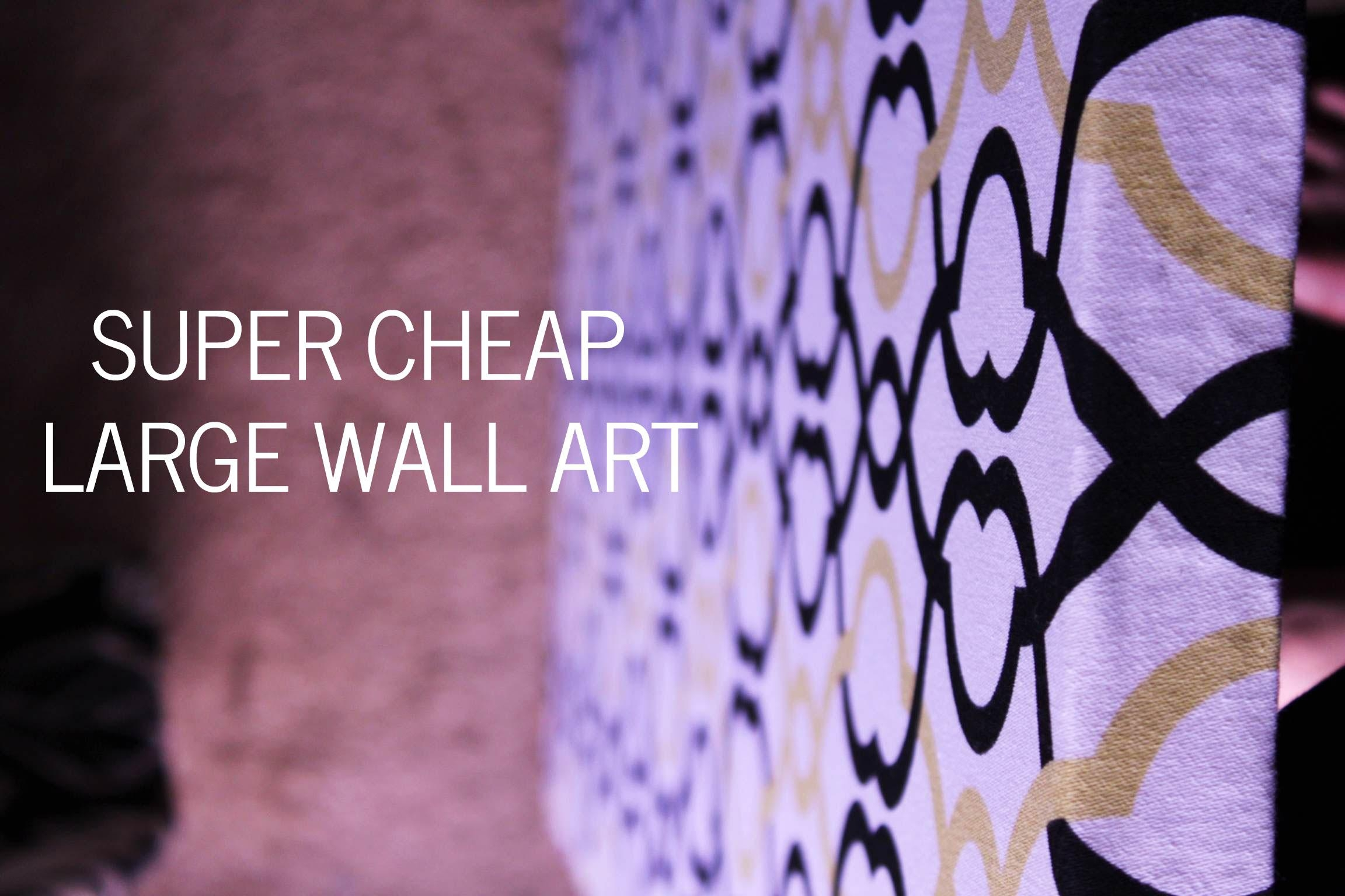 Wall Art Design Ideas: Purple Abstract Cheap Large Wall Art Super With Regard To Big Cheap Wall Art (Image 17 of 20)