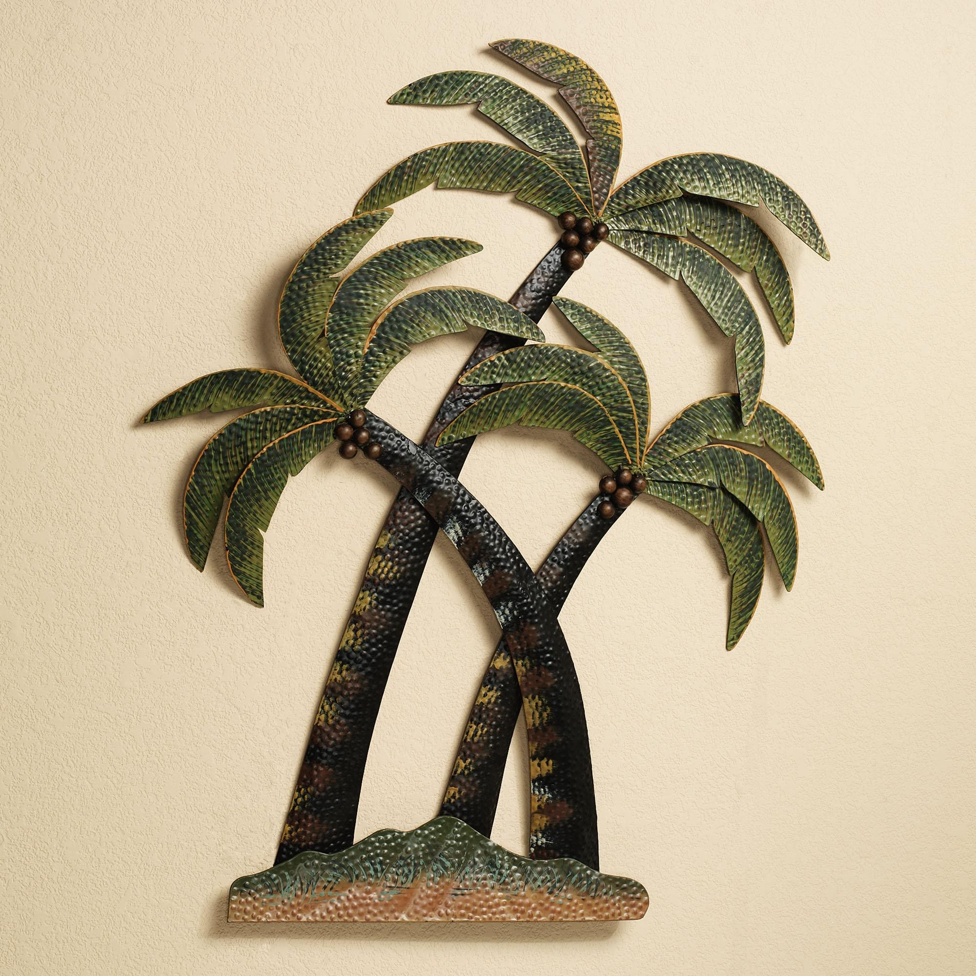 Wall Art Design Ideas: Sculpture Metal Palm Tree Wall Art Outdoor Intended For Stainless Steel Outdoor Wall Art (Image 13 of 20)