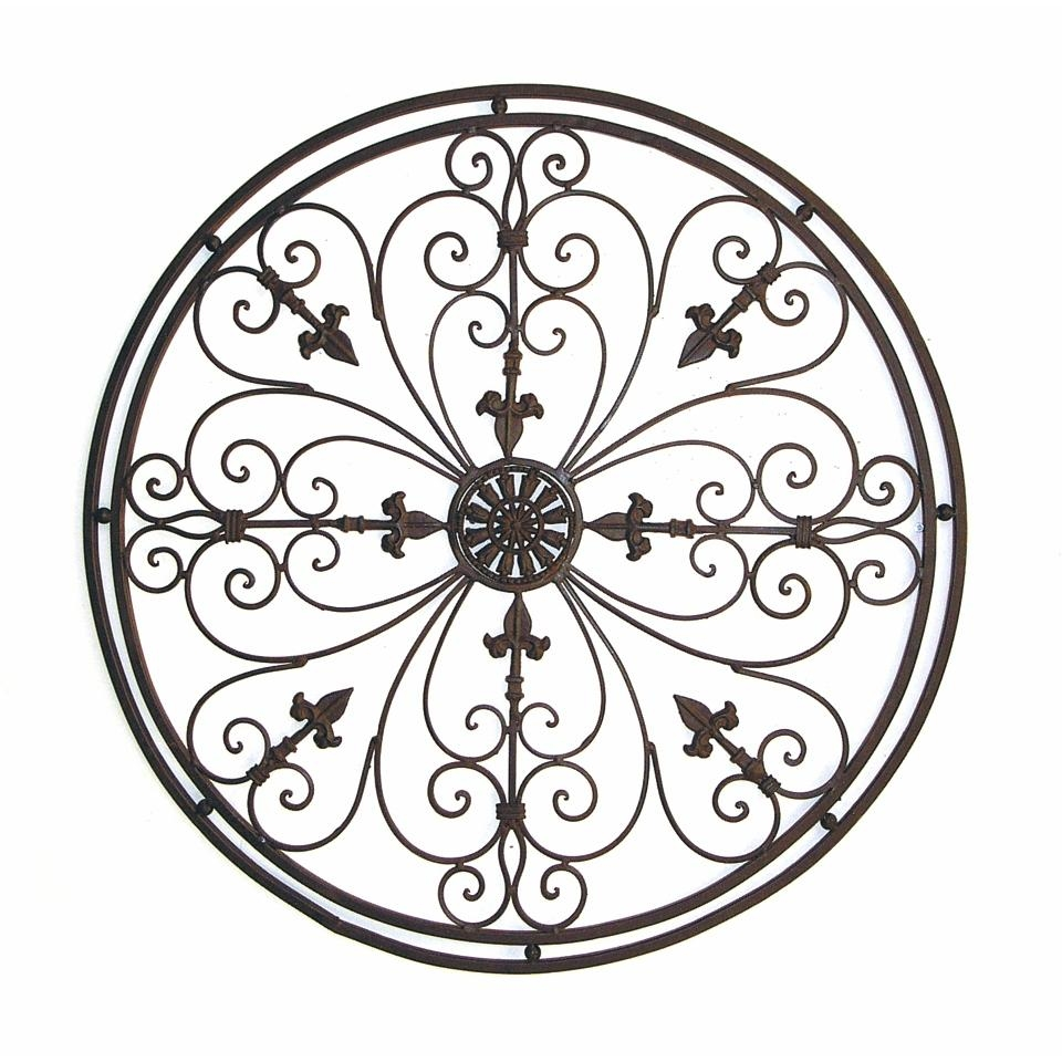 Wall Art Design Ideas: Tuscan Wrought Round Metal Wall Art Iron With Regard To Tuscan Wrought Iron Wall Art (View 3 of 20)