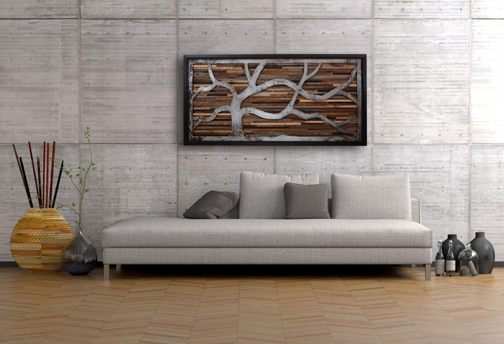 Wall Art Design Ideas: Vertically Artwork Wall Art Made Of Wood Pertaining To Natural Wood Wall Art (View 12 of 20)