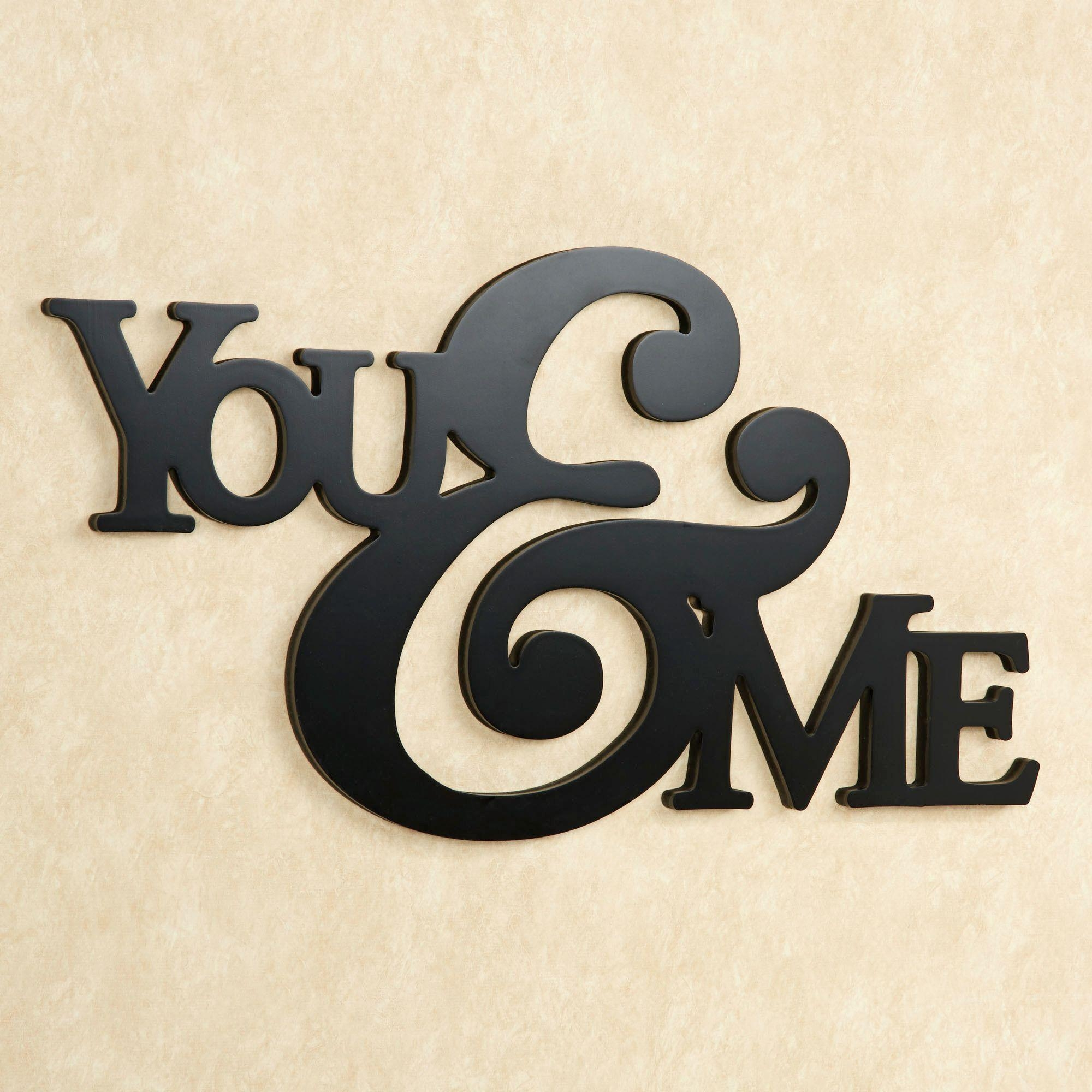 Wall Art Design Ideas: You And Me Word Plaques Wall Art Simple Intended For Wooden Words Wall Art (Image 10 of 20)