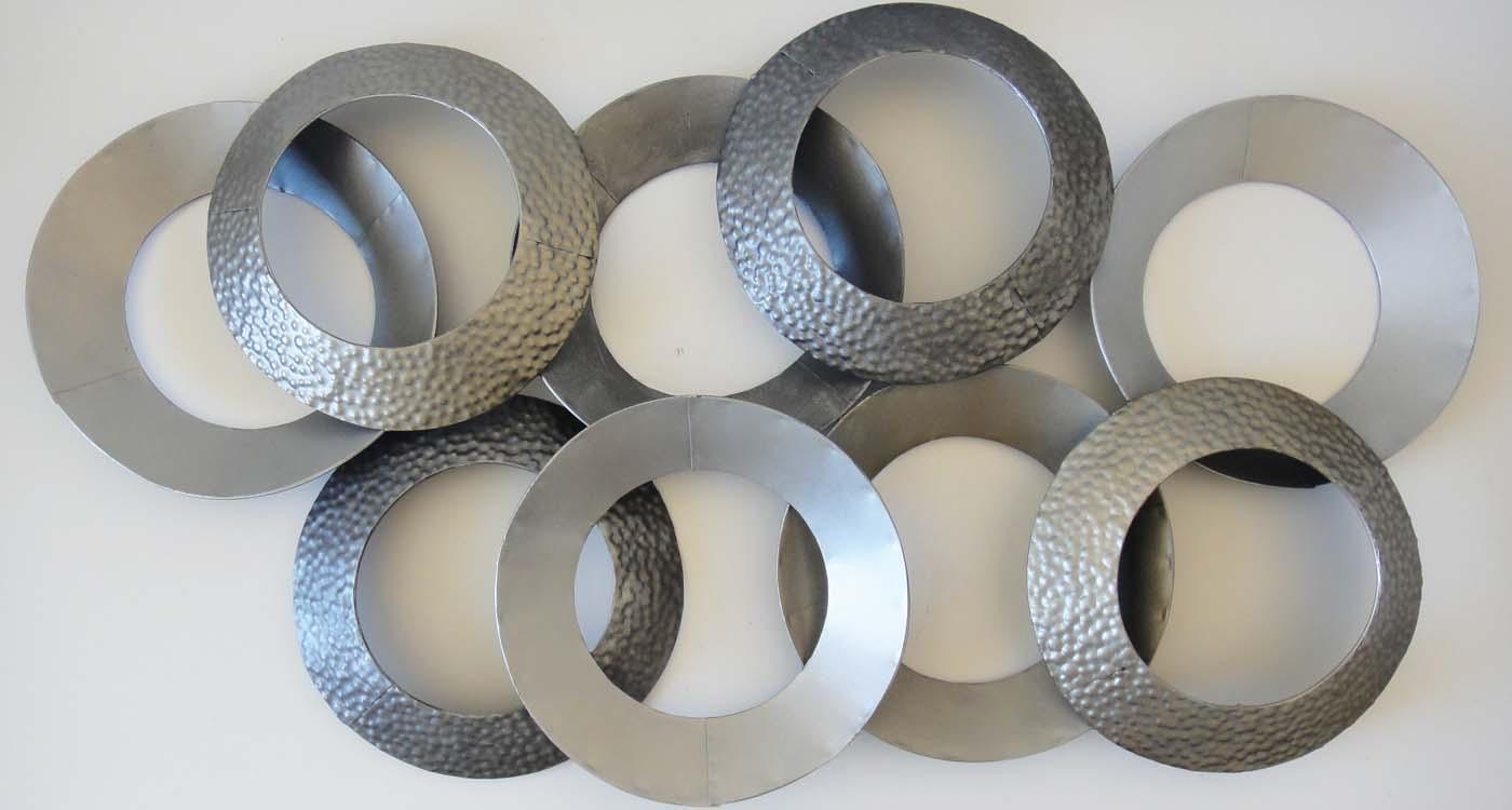 Wall Art Designs: Abstract Metal Wall Art Metal Wall Art Linked Intended For Large Abstract Metal Wall Art (Image 19 of 20)