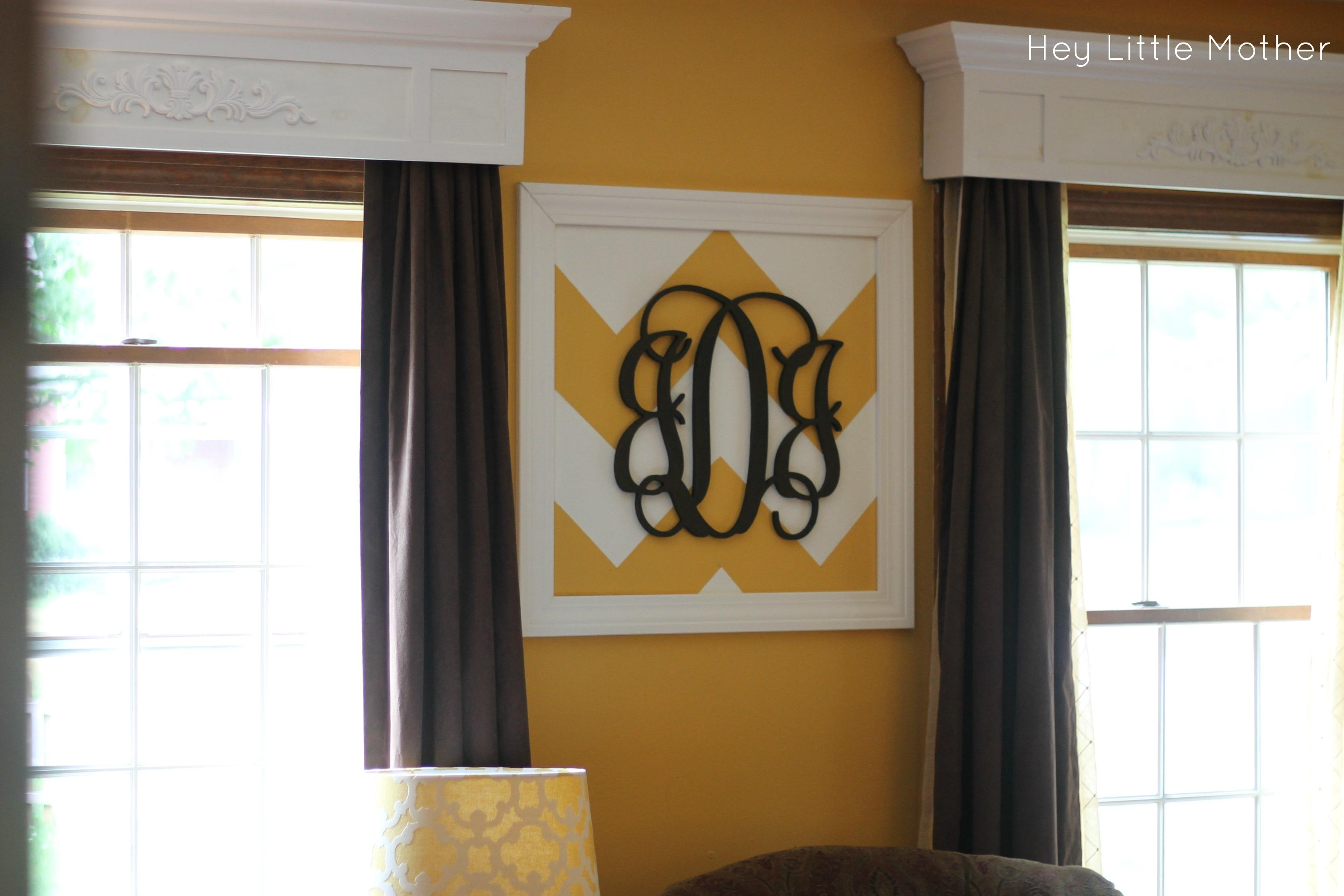Wall Art Designs: Awesome Designed Framed Monogram Wall Art With Inside Framed Monogram Wall Art (View 3 of 20)